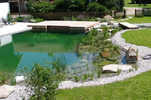 Naturlig swimming pool